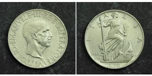 10 Ліра Kingdom of Italy (1861-1946) Срібло Виктор Эммануил III (1869 - 1947)