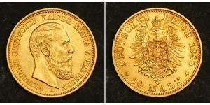 10 Марка Королівство Пруссія (1701-1918) Золото Фрідрих Вільгельм III, король Пруссії  (1770 -1840)