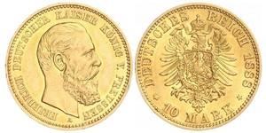10 Марка Пруссия (королевство) (1701-1918) Золото Фридрих Вильгельм III, король Пруссии (1770 -1840)