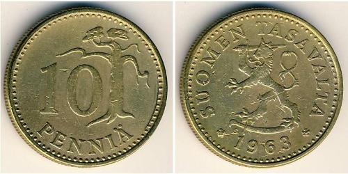 10 Пені Фінляндія (1917 - ) Бронза/Алюміній