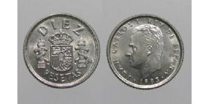 10 Песета Королівство Іспанія (1976 - ) Нікель/Мідь Хуан Карлос I (1938 - )