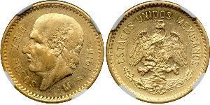 10 Песо Мексиканські Сполучені Штати (1867 - ) Золото Miguel Hidalgo