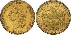 10 Песо Granadine Confederation (1858 - 1863) Золото
