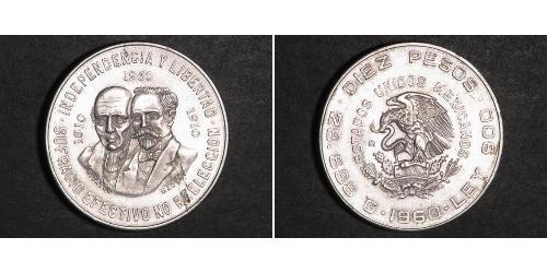 10 Песо Мексиканські Сполучені Штати (1867 - ) Срібло Miguel Hidalgo