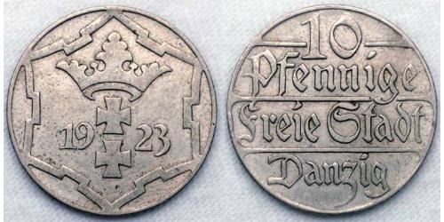 10 Пфенниг Gdansk (1920-1939) Никель/Медь