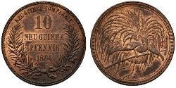10 Пфенниг Новая Гвинея