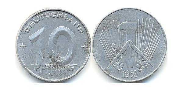 10 Пфеніг Німецька Демократична Республіка (1949-1990) Алюміній