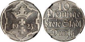 10 Пфеніг Gdansk (1920-1939) Нікель/Мідь