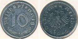 10 Пфеніг Третій рейх (1933-1945) Цинк