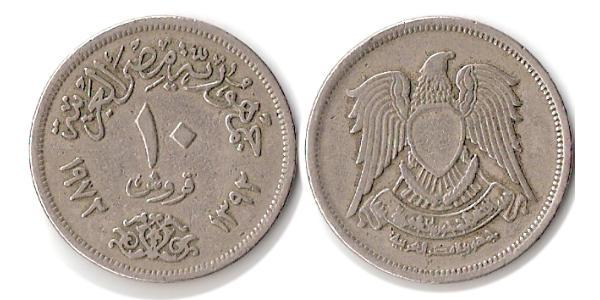10 Піастр Арабська Республіка Єгипет (1953 - ) Нікель/Мідь