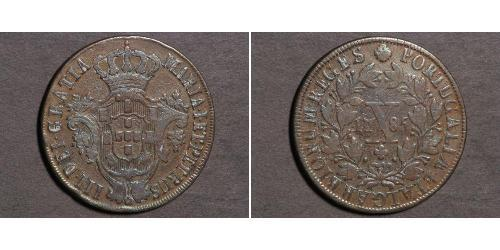 10 Рейс Королевство Португалия (1139-1910) Медь Жуан VI король Португалии (1767-1826) / Мария I королева Португалии (1734-1816)