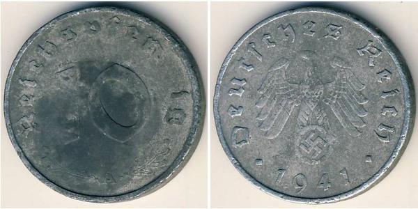 10 Рейхспфенниг Третий рейх (1933-1945) Цинк