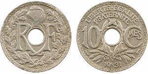 10 Сантим Французское государство режима Виши (1940-1944) / Третья французская республика (1870-1940)  Никель/Медь