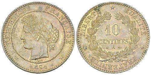 10 Сантім Третя французька республіка (1870-1940)  Бронза
