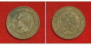 10 Сантім Second French Empire (1852-1870) Мідь Наполеон ІІІ Бонапарт (1808-1873)