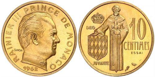 10 Сантім Монако  Реньє III