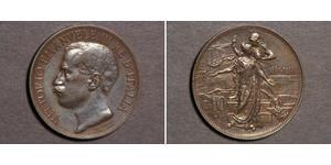 10 Сентесимо Kingdom of Italy (1861-1946) Медь Виктор Эммануил III (1869 - 1947)