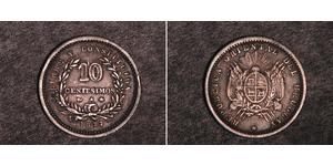 10 Сентесимо Уругвай Серебро