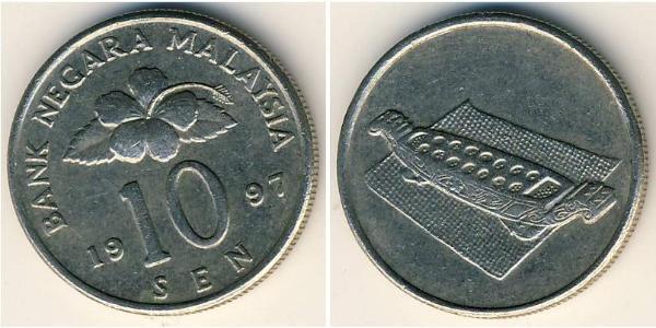 10 Сен Малайзия (1957 - ) Никель/Медь