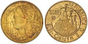 10 Скудо Сан-Марино Золото