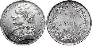 10 Сольдо Папська держава (752-1870) Срібло Григорій XVI