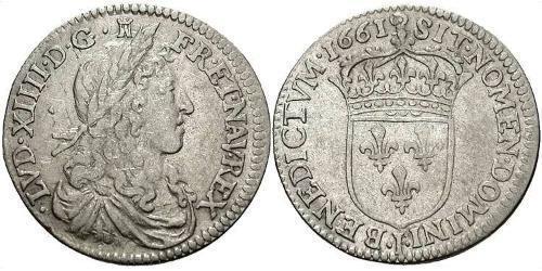10 Соль Франкське королівство (843-1791) Срібло Людовик XIV (1638-1715)