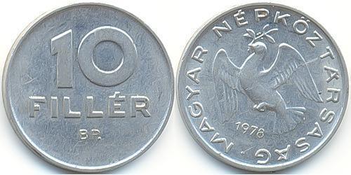 10 Филлер Венгерская Народная Республика (1949 - 1989) Алюминий