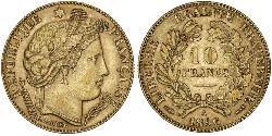 10 Франк French Second Republic (1848-1852) Золото