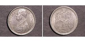 10 Франк Монако Никель/Медь Луи II князь Монако (1870-1949)