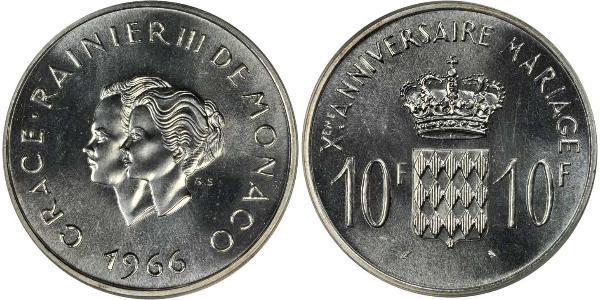 10 Франк Монако Серебро
