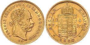 10 Франк / 4 Форінт Австро-Угорщина (1867-1918) Золото Франц Иосиф I (1830 - 1916)