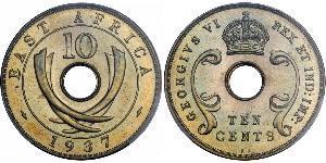10 Цент Восточная Африка Бронза Георг V (1865-1936)