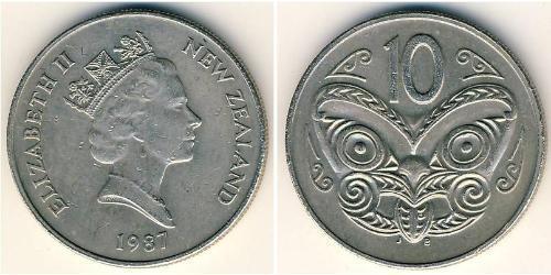 10 Цент Новая Зеландия Никель/Медь