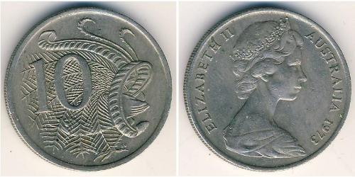 10 Цент Австралія (1939 - ) Нікель/Мідь Єлизавета II (1926-)