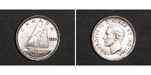 10 Цент Канада Серебро Георг VI (1895-1952)