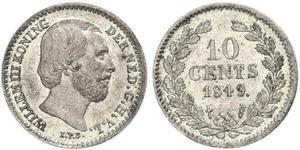 10 Цент Королевство Нидерланды (1815 - ) Серебро Виллем III