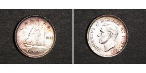 10 Цент Канада Срібло Георг VI (1895-1952)