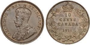 10 Цент Канада Срібло Георг V (1865-1936)