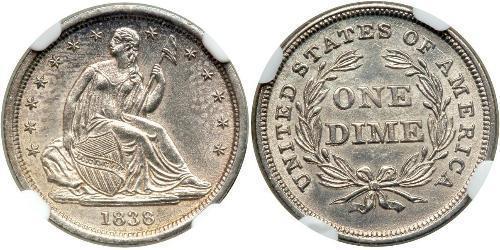 10 Цент / 1 Дайм США (1776 - ) Мідь/Срібло
