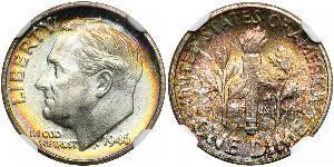 10 Цент / 1 Дайм США (1776 - ) Серебро