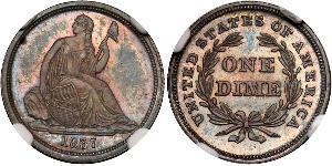 10 Цент / 1 Дайм США (1776 - ) Серебро/Медь