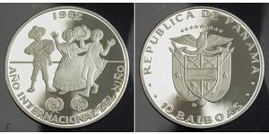 10 Balboa Republic of Panama Silver