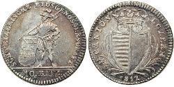 10 Batz Switzerland Silver