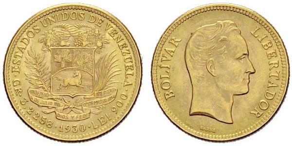 10 Bolivar Venezuela Gold Simon Bolivar (1783 - 1830)