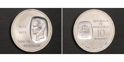 10 Bolivar Venezuela Silber