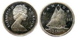 10 Cent 加拿大 銀 伊丽莎白二世 (1926-)
