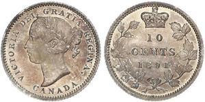 10 Cent 加拿大 銀 维多利亚 (英国君主)