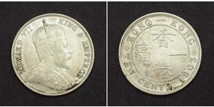 10 Cent 香港 銀 爱德华七世 (1841-1910)