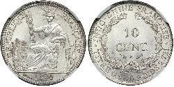 10 Cent French Indochina (1887-1954) 銀