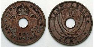 10 Cent East Africa 青铜 乔治五世  (1865-1936)